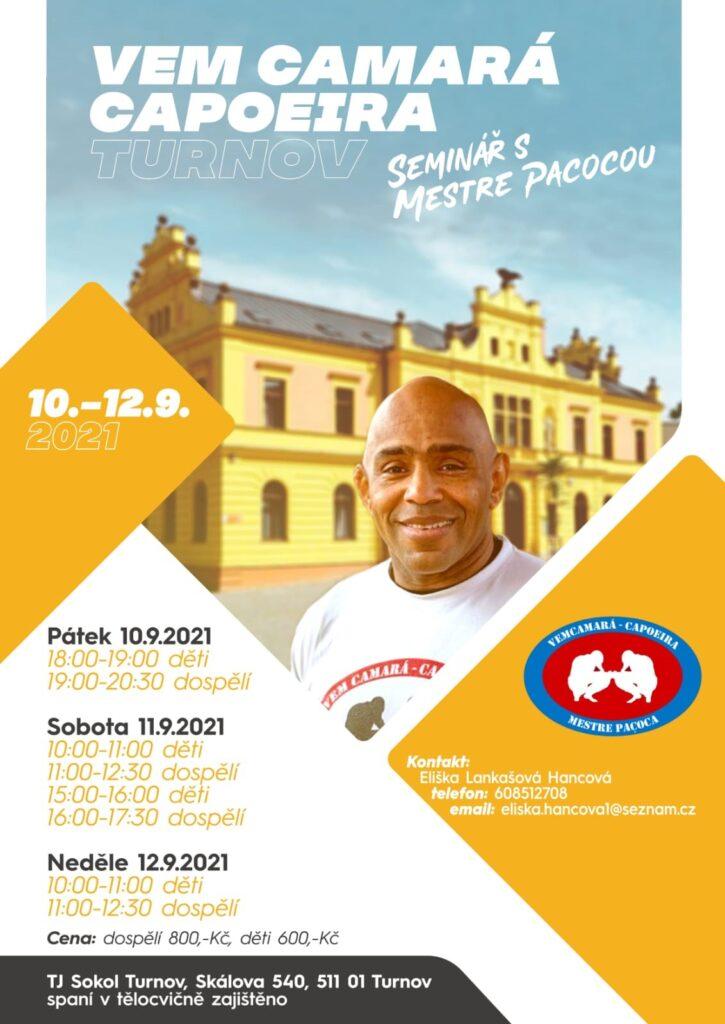Seminář s Mestre Sandro Santos Pacoca v TURNOVĚ !!!